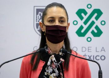 Claudia Sheinbaum, alcaldesa de la ciudad de México durante una rueda de prensa.   EFE.