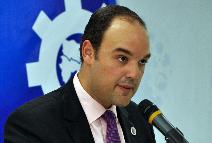 José del Castillo Saviñón, ministro de Industrica y Comercio.