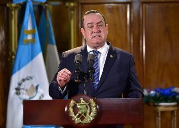 El presidente de Guatemala, Alejandro Giammattei. | Fuente externa.