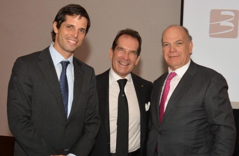 Alfredo Vargas, Victor Vargas Irausquín y Luis Emilio Velutini durante la actividad con ejecutivos./elDinero