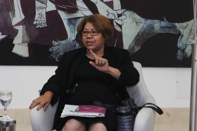Ana Vertilia Cabrera, presidenta del Comité de Amas de Casa.