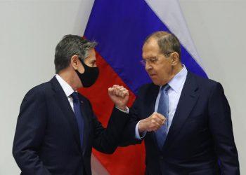 Antony Blinken y Sergei Lavrov. | EFE.
