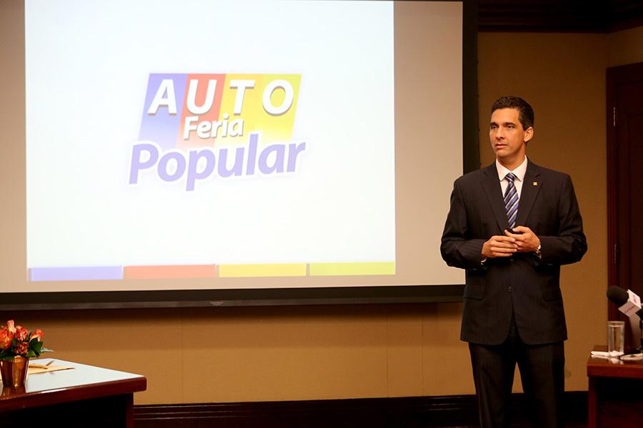 Francisco Ramírez, vicepresidente de Mercadeo del Banco Popular, ofrece detalles sobre la Autoferia Popular 2014.