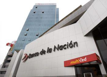Banco de la Nación, en Perú. | Andina.