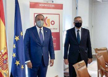 El administrador general de Banreservas sostuvo una reunión con el presidente del Instituto de Crédito Oficial de España, Carlos José García de Quevedo.