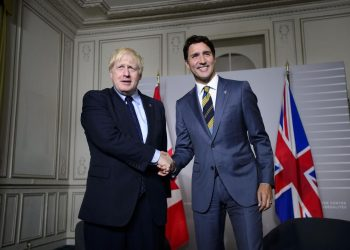 Boris Johnson y Justin Trudeau.   The Star.