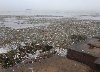 Cantidad de basura entrada del canal.
