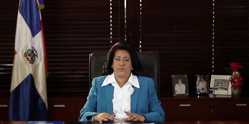 Cristina Lizardo, presidenta del Senado de la República.