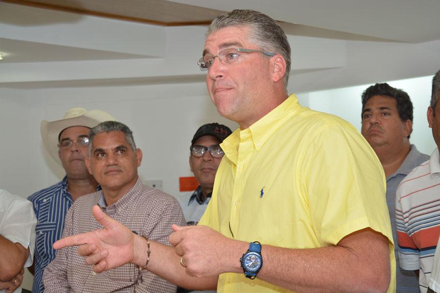 Eric Rivero,  presidente de la Confederación Nacional de Productores Agropecuarios (Confenagro). | Lésther Álvarez