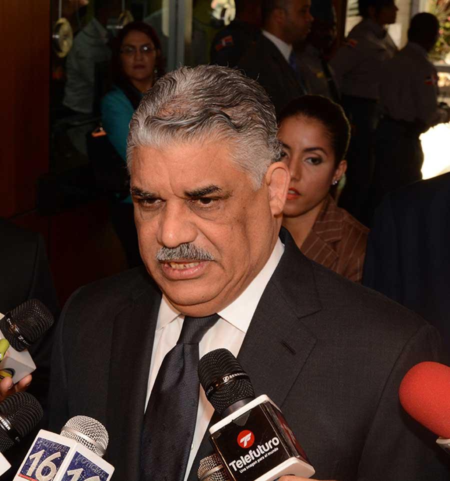 Miguel Vargas, canciller de la República.   Lésther Álvarez