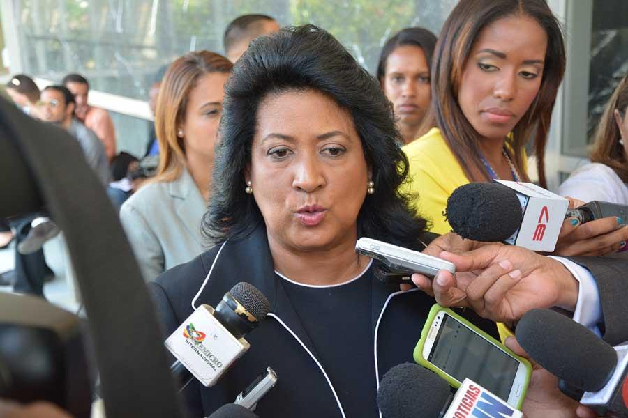 Cristina Lizardo, en la rendición de cuenta del Tribunal Constitucional./LÉSTHER ÁLVAREZ