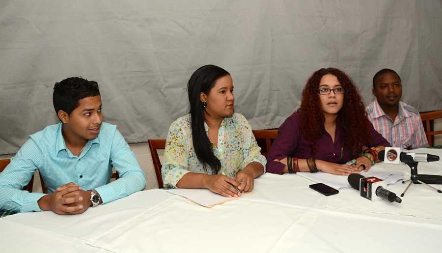 Jordania Ureña pide a los jóvenes que reclamen sus derechos y mayor participación./LÉSTHER ÁLVAREZ