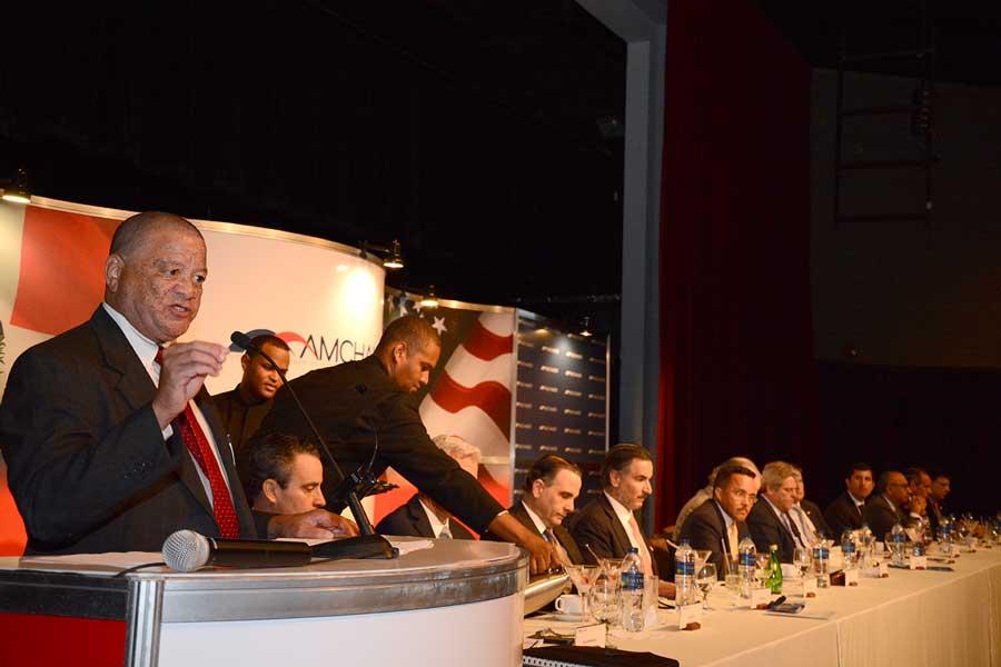 Gary Ward habló al participar en el almuerzo mensual de la Cámara Americana de Comercio de la República Dominicana (Amchamd-RD). | Lésther Álvarez