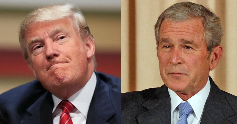 donald trump vs george w bush 2