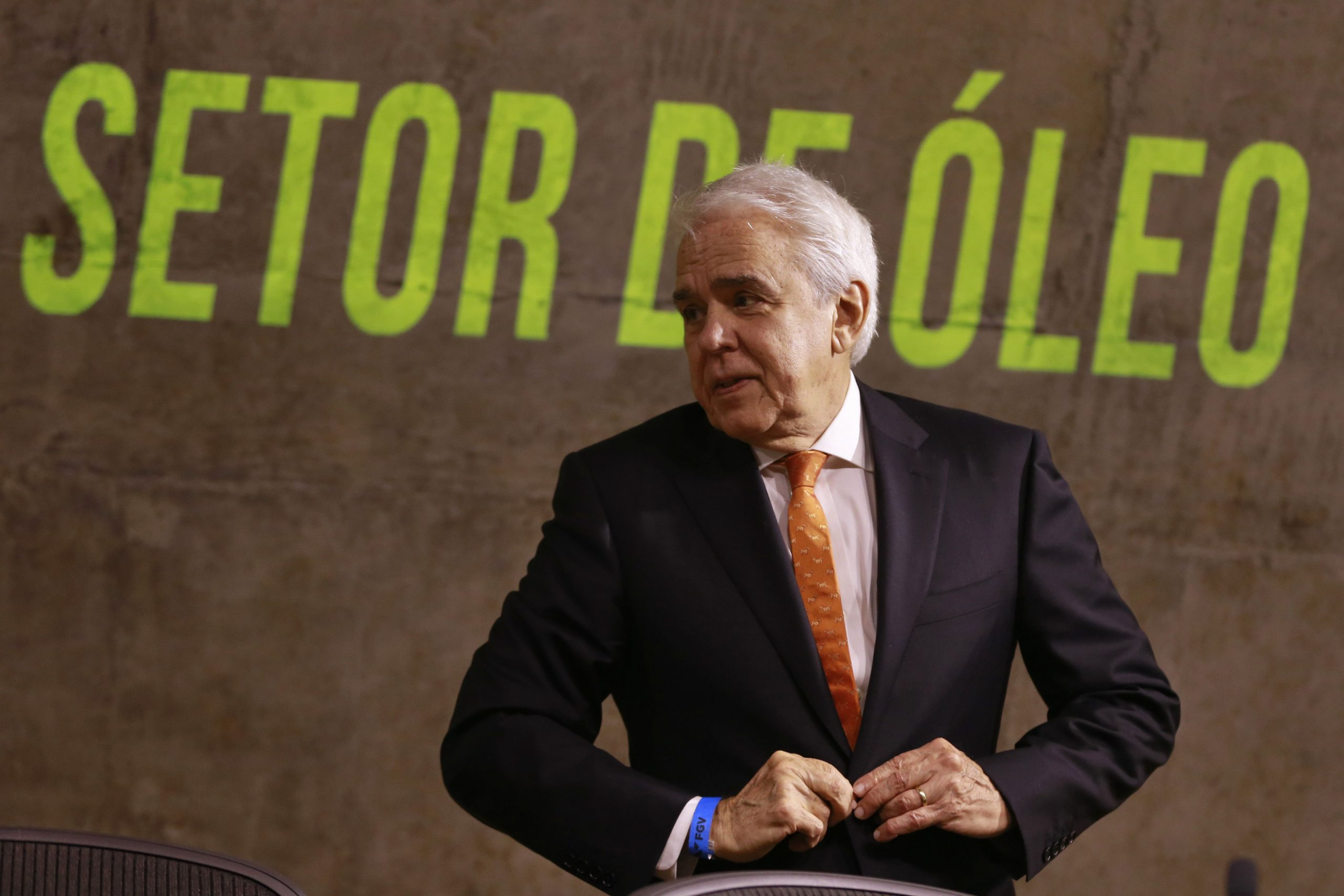 el consejero delegado de petrobras, roberto castello branco, durante un seminario económico en la fundación getulio vargas