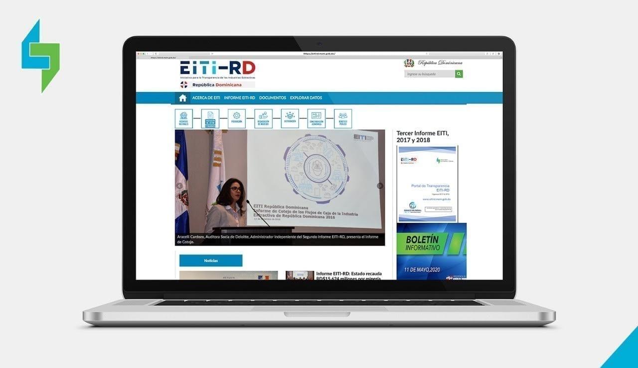 el portal de transparencia eiti rd proporciona información sobre los contratos, datos de producción, exportación e ingresos en formato abierto.