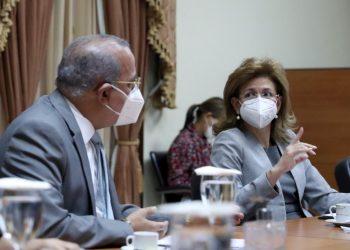 El ministro de Salud, Plutarco Arias y la vicepresidenta Raquel Peña, encargada del gabinete de Salud. | Fuente externa.