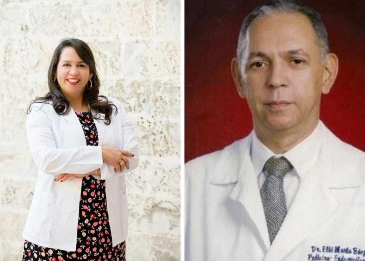 Los médicos pediatras Leandra Cordero y  Elbi Morla.