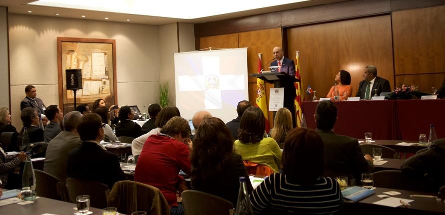 intervención Aníbal de Castro habló en el Foro Oportunidades de Inversión en República Dominicana, realizado en el Hotel Catalonia Diagonal Centro de Barcelona./Fuente externa