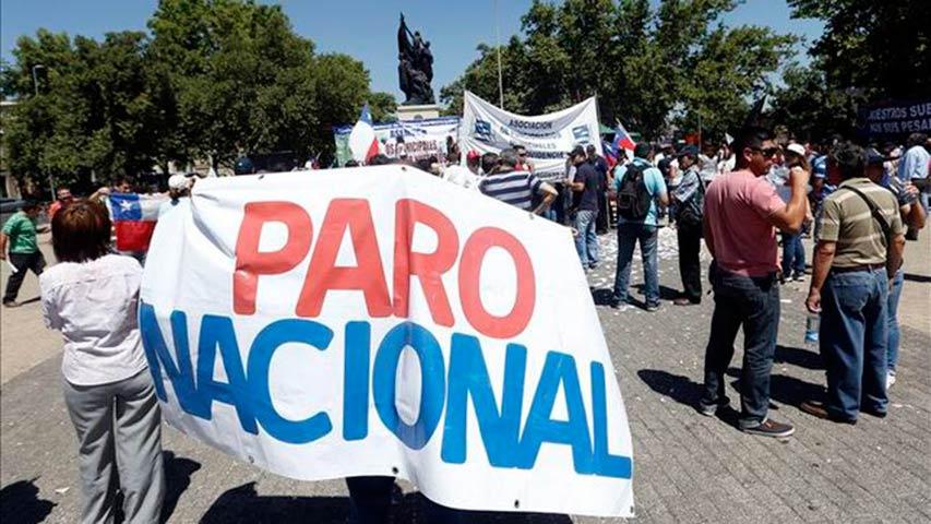 empleados publicos chilenos convocan salariales