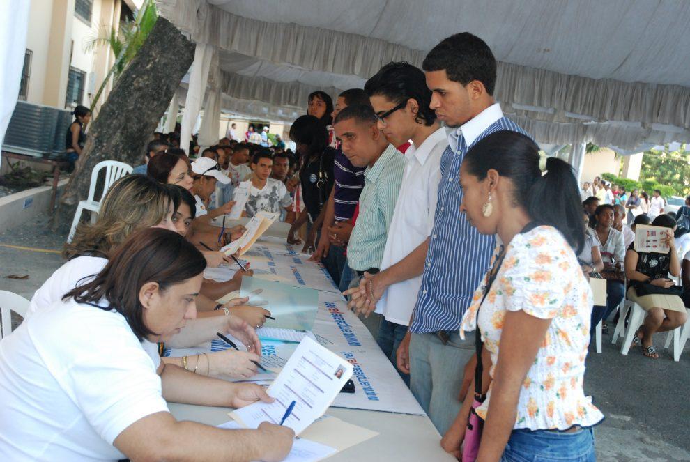 Feria de empleos en Santo Domingo. / Fuente externa