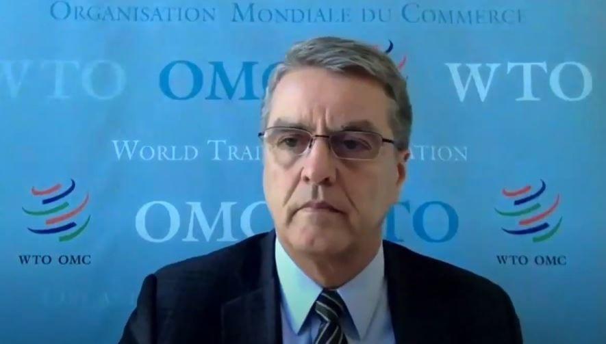 foto 1, el director general de la omc, roberto azevêdo, en la video conferencia para rd.