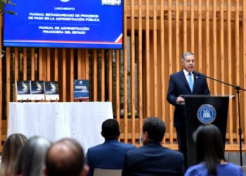 El ministro de Hacienda, Donald Guerrero Ortiz.