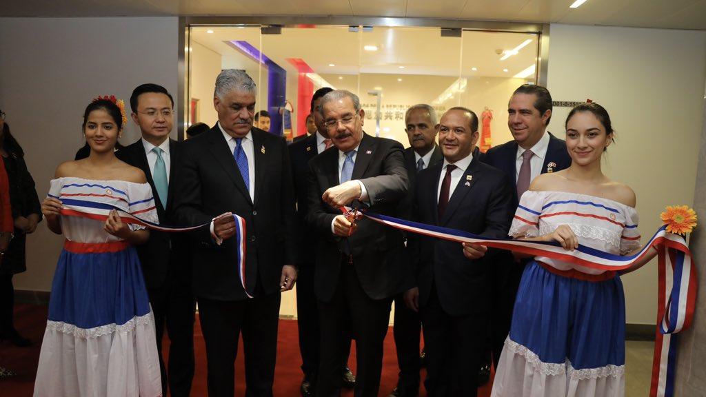 inauguran embajada rd en china