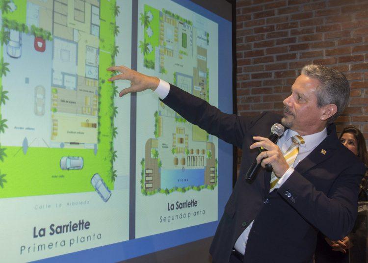 Rafael Madera, gerente general de Inmobiliaria Reservas, presenta el proyecto La Sarriette, primera torre eco-verde en Santo Domingo.