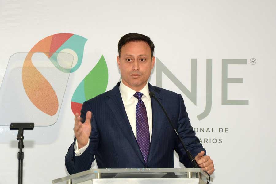 Jean A. Rodríguez, invitado especial en el Desayuno Empresarial de ANJE. | Lésther Álvarez