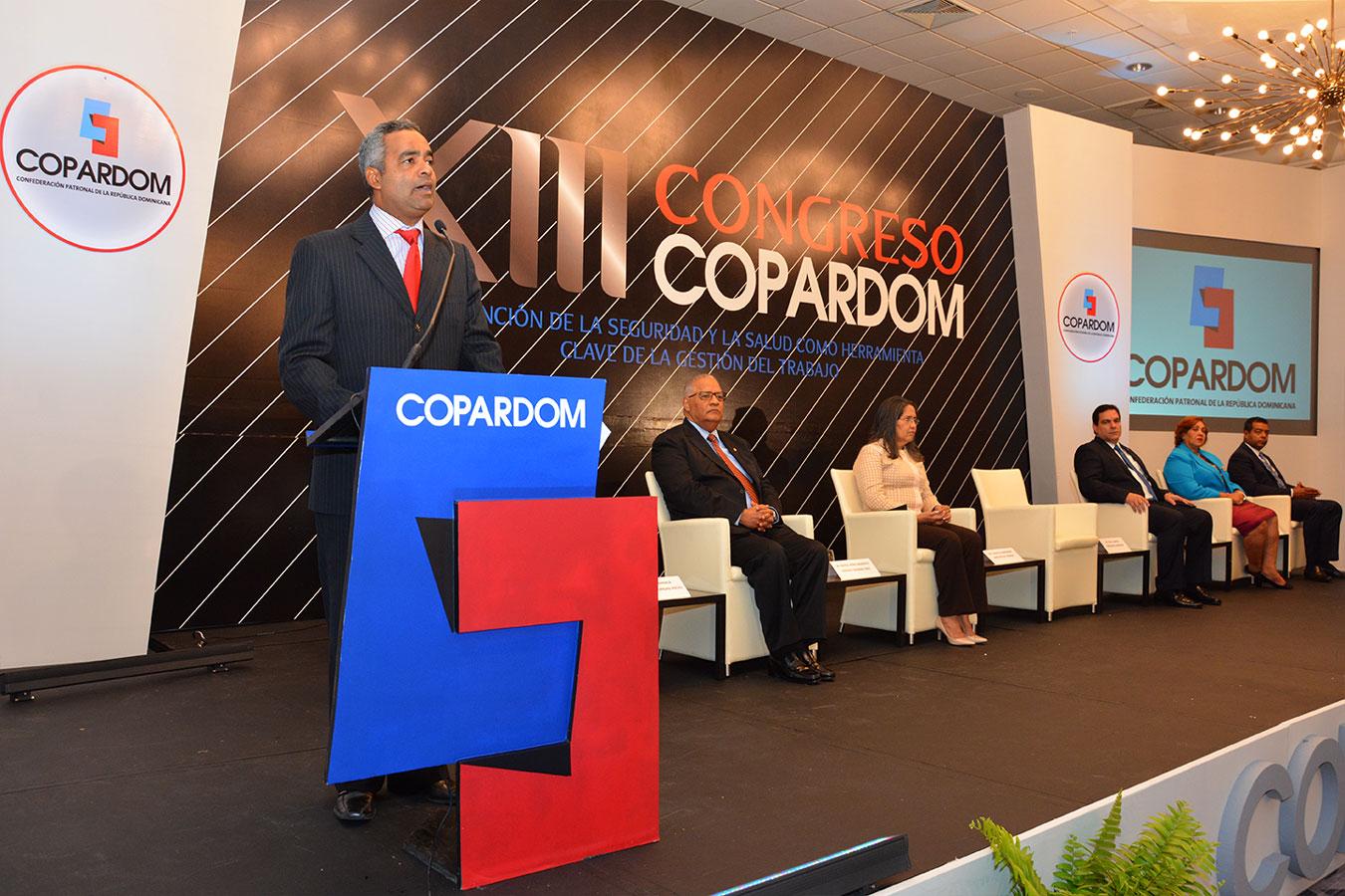 Joel Santos, durante la apertura de la actividad. | Gabriel Alcántara