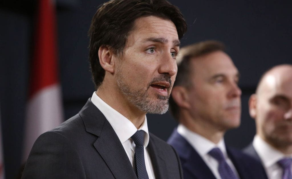 prime minister justin trudeau holds news conference on coronavirus