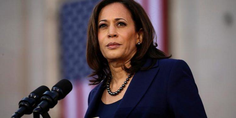 Kamala Harris, vicepresidenta de EEUU.   Elijah Nouvelage, Reuters.
