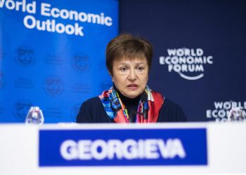 La directora gerente del Fondo Monetario Internacional (FMI), la búlgara Kristalina Georgieva.   Gian Ehrenzeller, EFE.