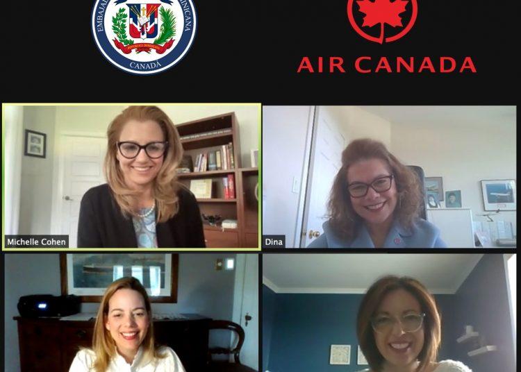 La embajadora Michelle Cohen en reunión con Air Canada.