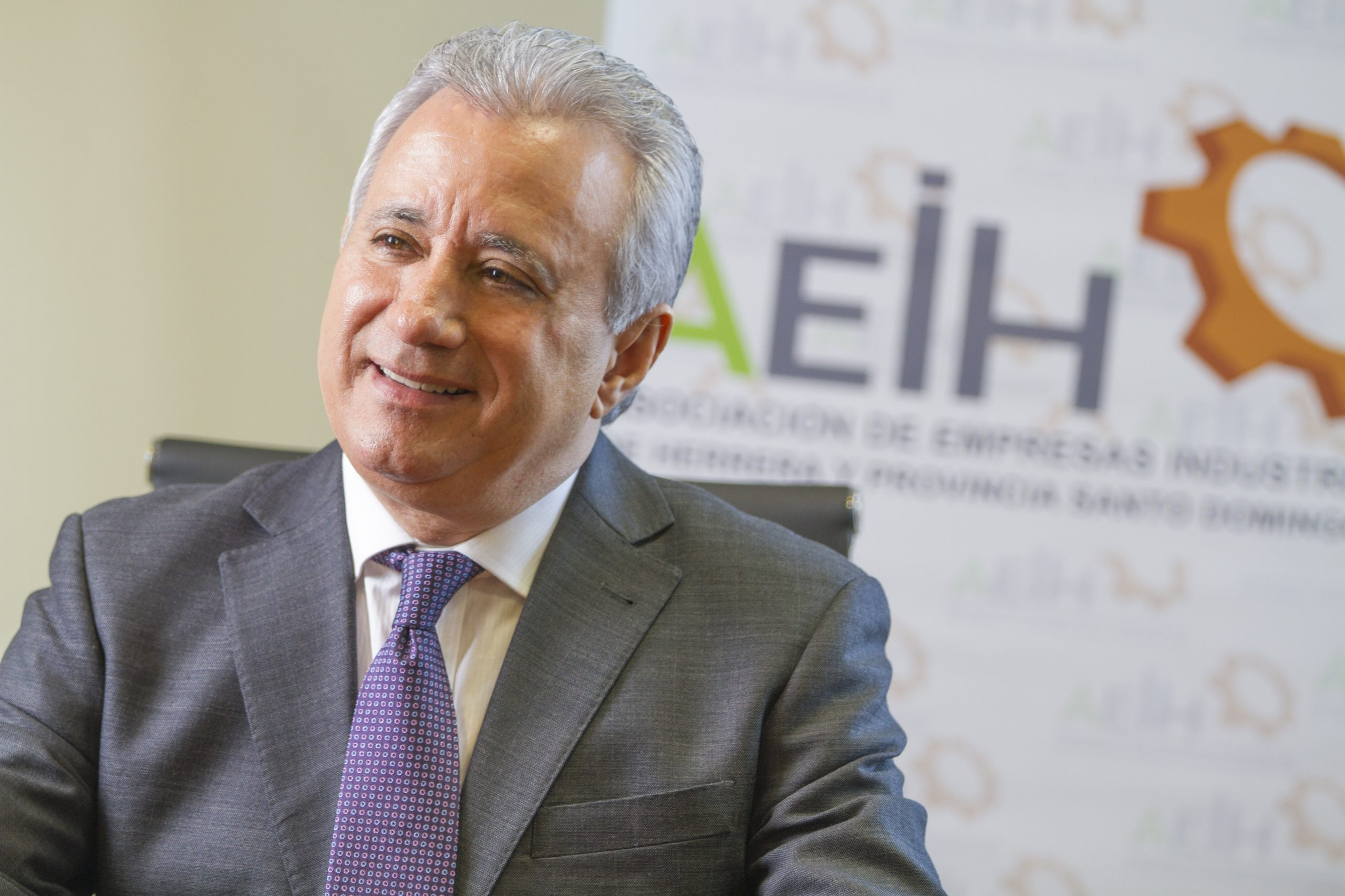 Antonio Taveras Guzmán, presidente de la Asociación de Empresas Industriales de Herrera y Provincia Santo Domingo. Foto: AEIH.
