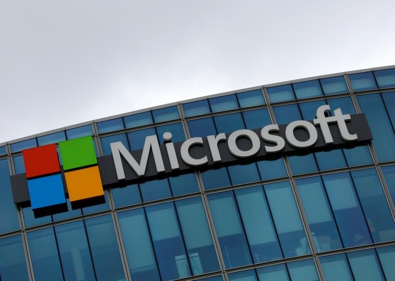 the logo of microsoft is pictured in issy les moulineaux