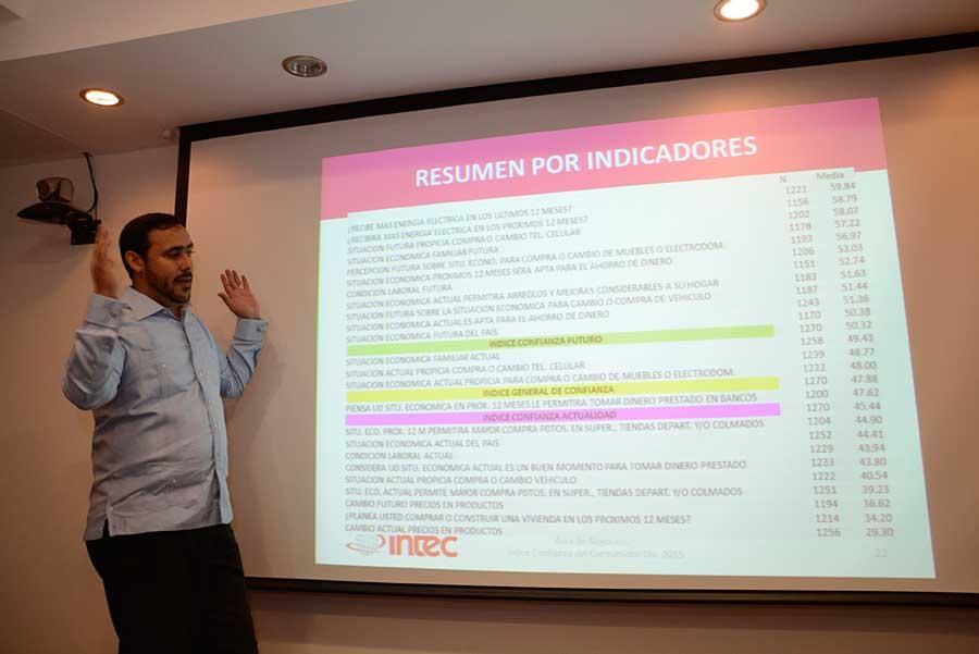 Oliver cruz, coordinador de mercadeo del Intec e investigador principal del estudio. | Lésther Álvarez