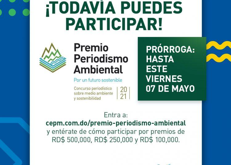 Afiche de convocatoria al Premio de Periodismo Ambiental.