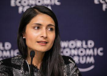 La directora general del Foro Económico Mundial (FEM), Saadia Zahidi.   Fuente externa.