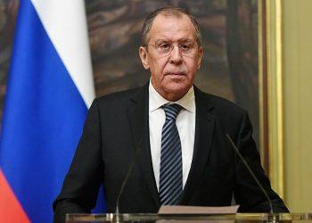 el ministro de Asuntos Exteriores de Rusia, Serguéi Lavrov. | Maxim Blinov, Sputnik.