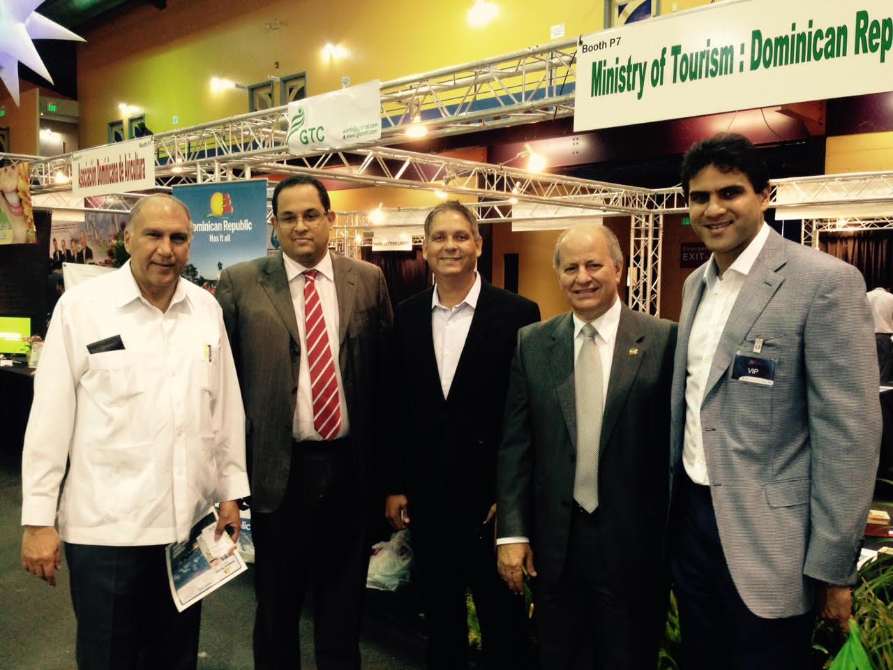 Empresarios y funcionarios dominicanos durante su participación en la TIC, que se realizó en Trinidad y Tobago.