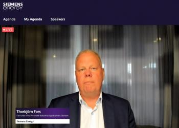 Thorbjörn Fors,vicepresidente ejecutivo división de aplicaciones industriales en Siemens Energy.