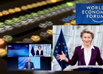 La presidenta de la Comisión Europea, Ursula von der Leyen, durante su participación en el Foro de Davos. | Fuente externa.