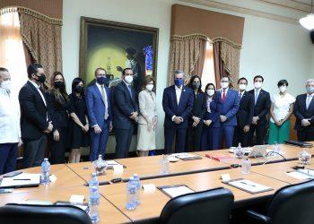 Visita de cortesía al presidente de la República, Luis Abinader, por parte de la directiva de ANJE.