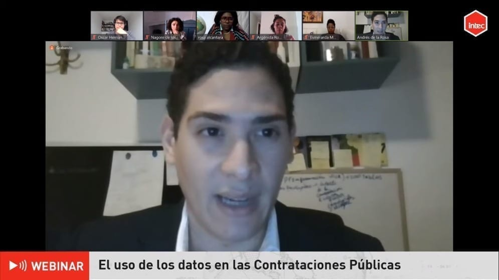 Andrés De la Rosa, durante seminario web realizado por Intec/Fuente externa.