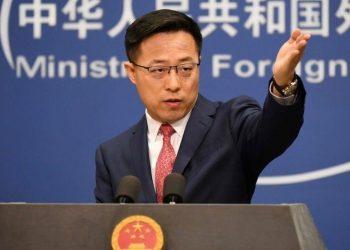 El portavoz del Ministerio de Exteriores chino, Zhao Lijian. | AFP