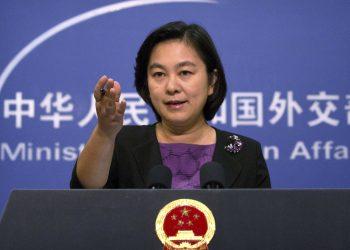 La portavoz del Ministerio de Asuntos Exteriores Hua Chunying.   Mark Schiefelbein, AP.