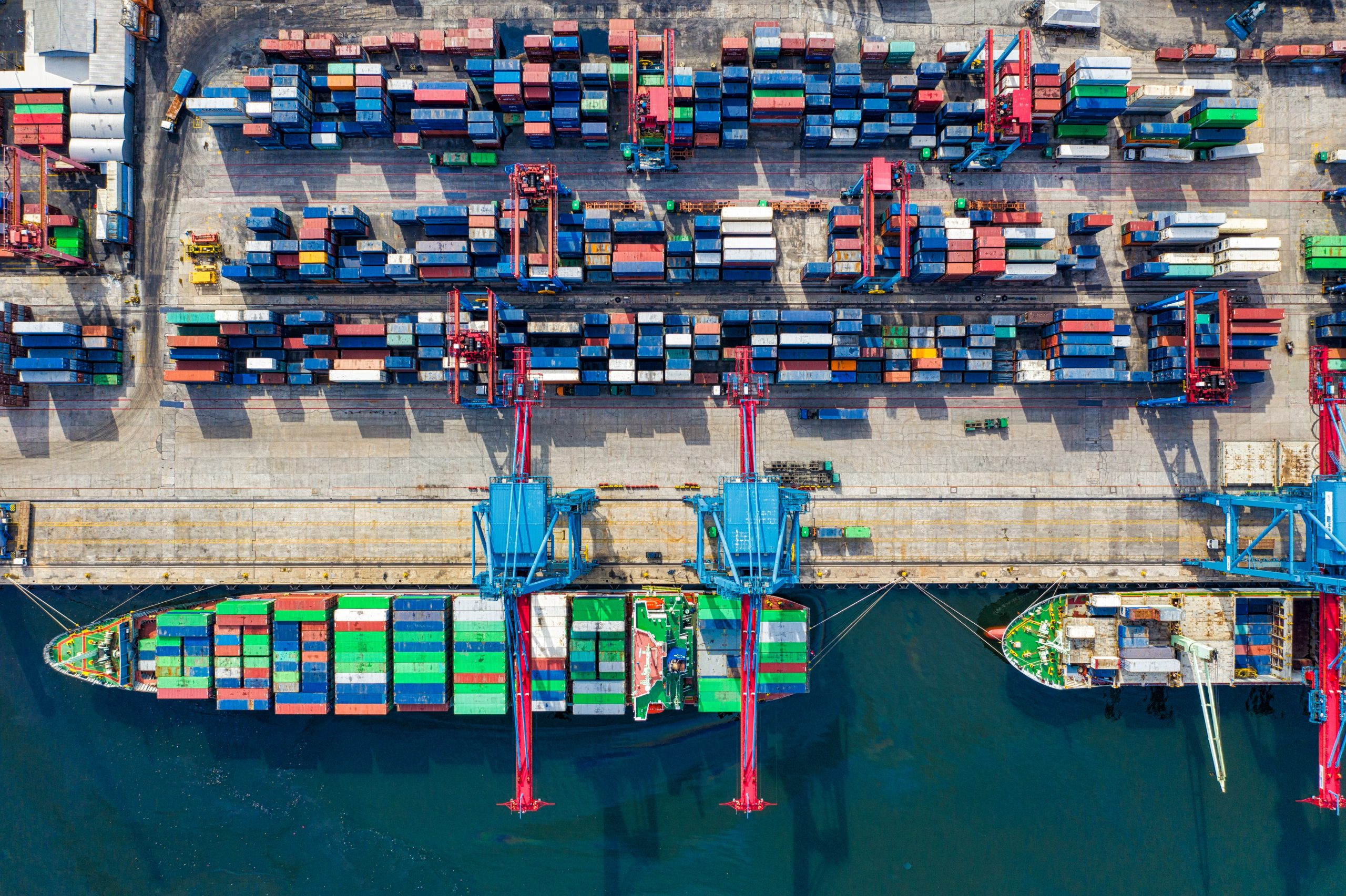 birds eye view photo of freight containers 2226458