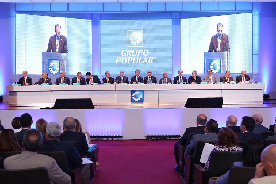 Los accionistas del Grupo Popular participaron de la Asamblea encabezada por Manuel A. Grullón.